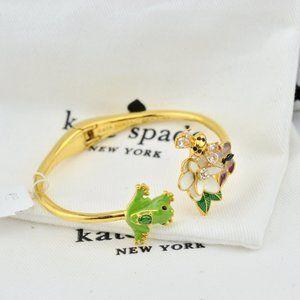 Kate Spade Enamel Glaze Frog Butterfly Bracelet